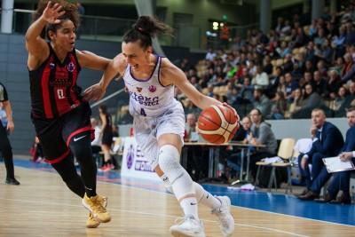Puchar Europy FIBA_ Artego Bydgoszcz-Sparta&k Vidnoje Moskwa_ Tamara Radocaj, Jennifer O'Neill_ Ryszard Wszołek