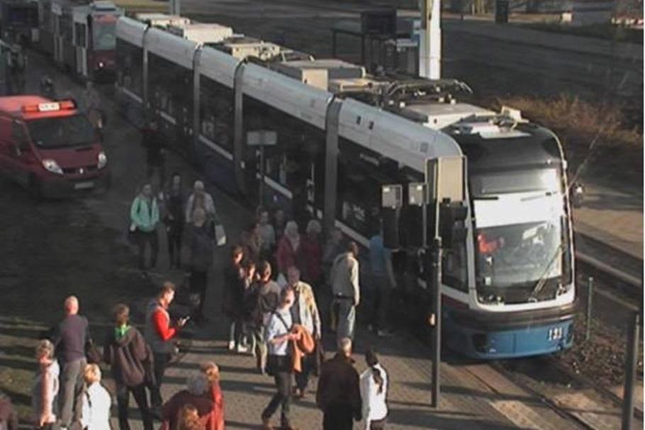 awaria tramwaju_ rondo Fordońskie Bydgoszcz - ITS