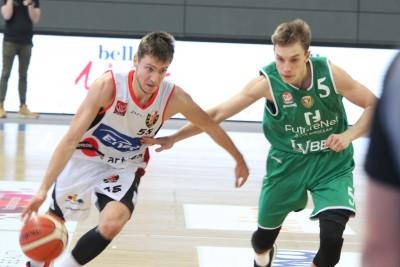 I liga koszykarzy_ Enea Astoria Bydgoszcz-FutureNet Śląsk Wrocław_ Artego Arena Bydgoszcz_ Marcin Nowakowski-Jakub Musiał_ SF