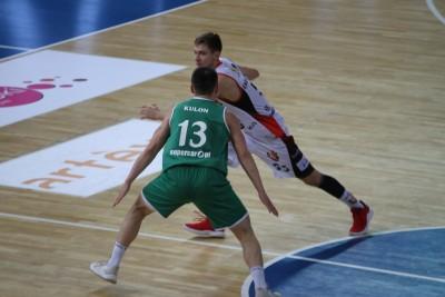 I liga koszykarzy_ Enea Astoria Bydgoszcz-FutureNet Śląsk Wrocław_ Marcin nowakowski_ SF