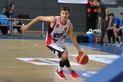 I liga koszykarzy_ Enea Astoria Bydgoszcz-SKK Siedlce_ Marcin Nowakowski_ SF