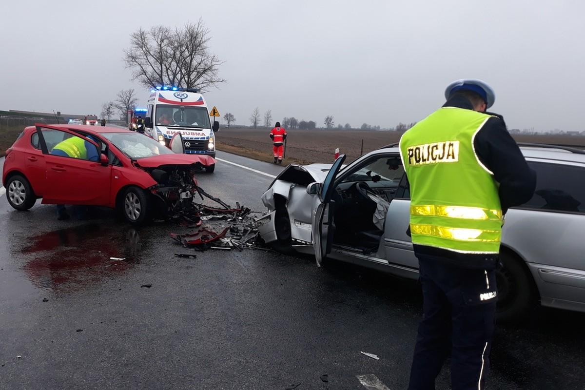 wypadek_ DK91 Bródnowo (pow. aleksandrowski)_ KPP Aleksandrów Kujawski-3