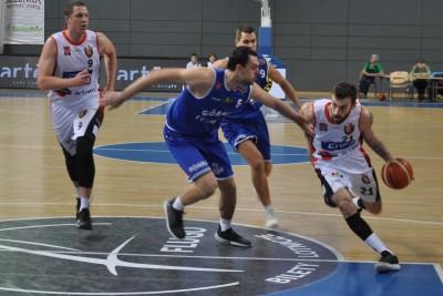 I liga koszykarzy_ Enea Astoria Bydgoszcz - Górnik Trans.eu Wałbrzych_ Paweł Śpica - SF