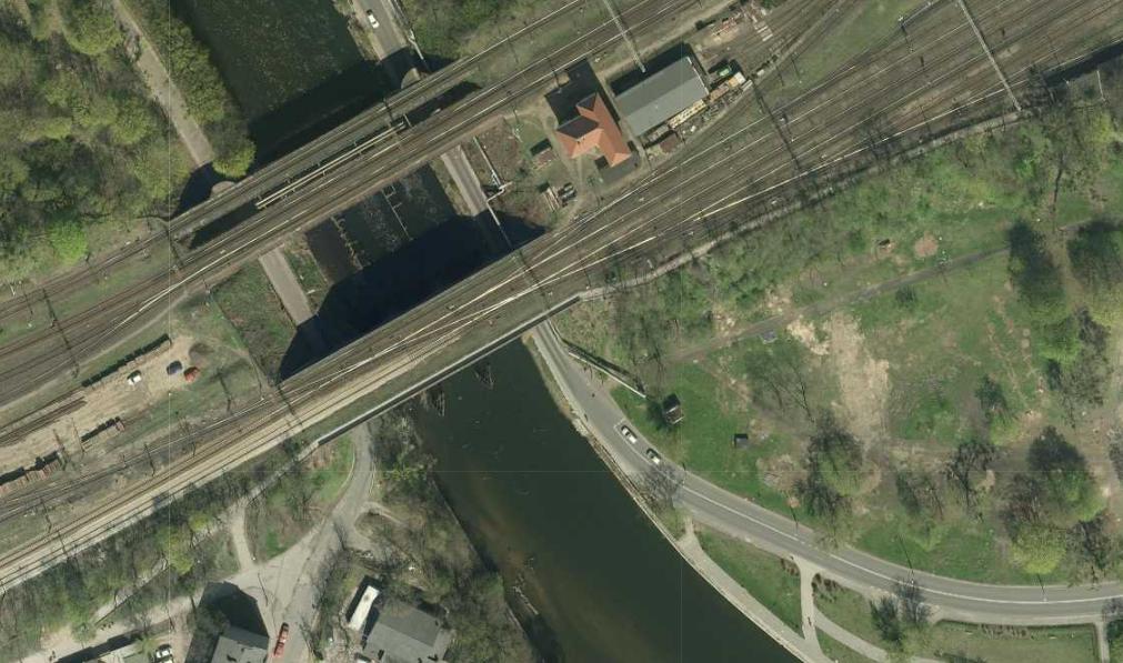 Mosty kolejowe nad Brdą - Geoportal