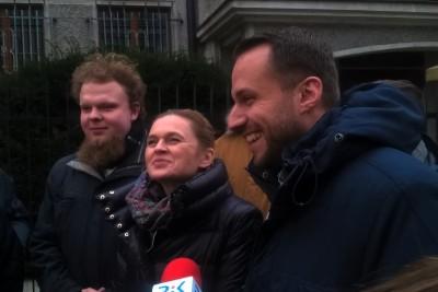 Piotr Malich, Barbara Nowacka, Szymon Wiłnicki - konferencja Inicjatywy Polskiej w Bydgoszczy_ SF