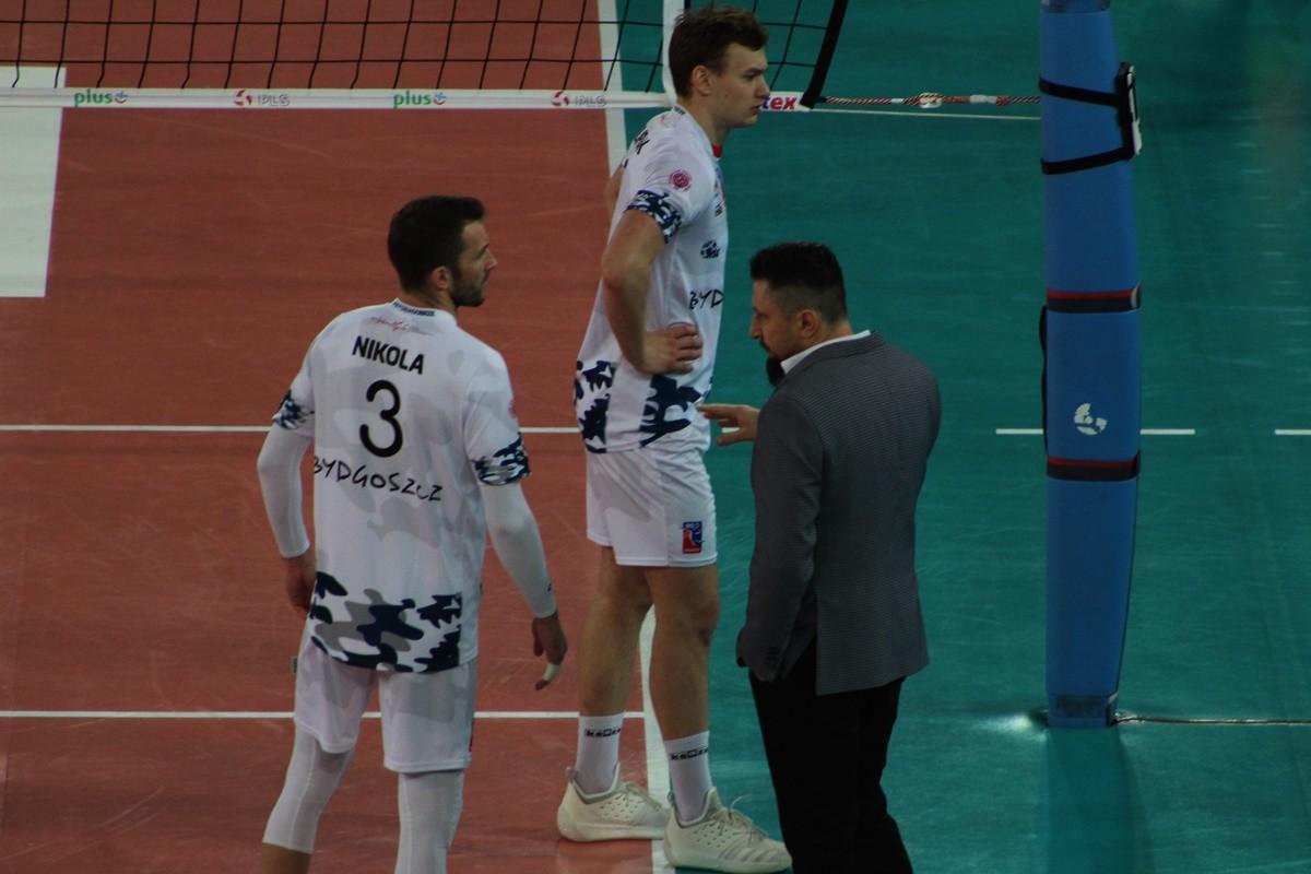 PlusLiga_ Chemik Bydgoszcz-Cuprum Lubin_ Jakub Bednaruk, Nikola Kovacević - SF