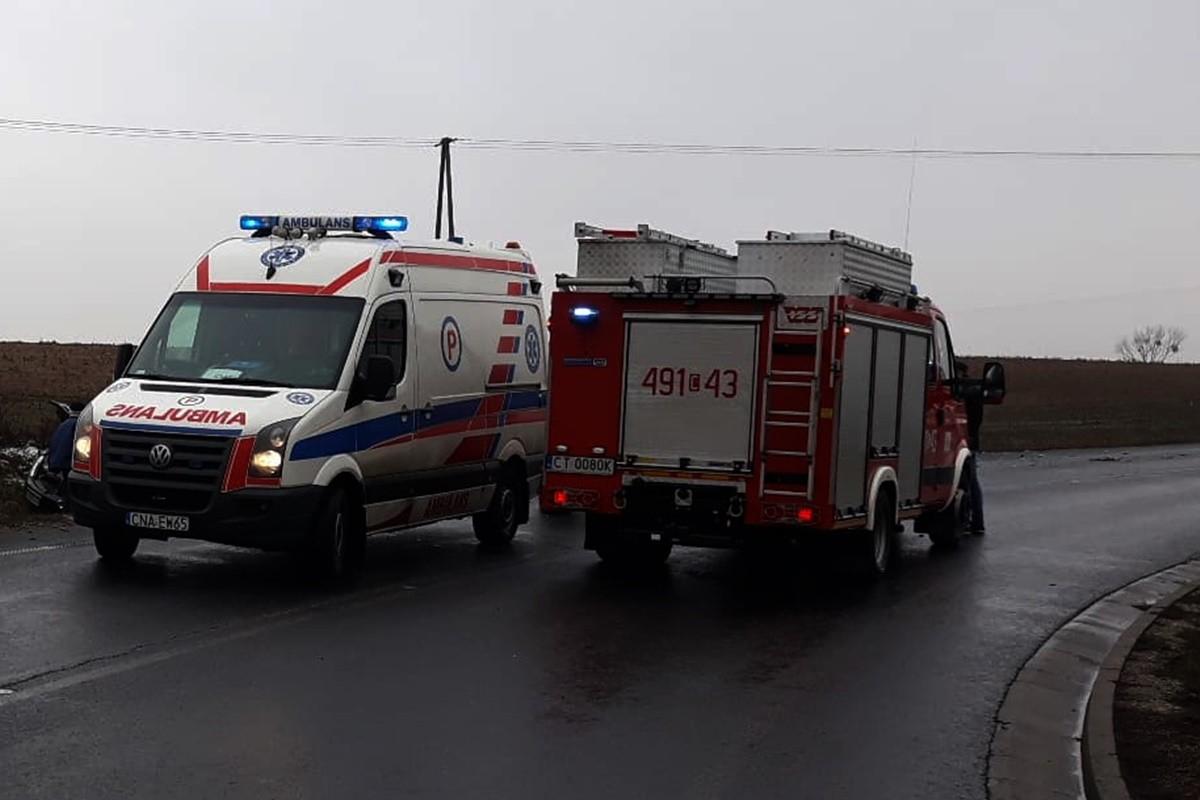 ambulans, straż pożarna - na sygnale_ ZK
