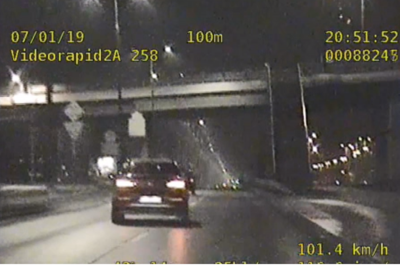 widok z wideorejestratora_ Fordońska Bydgoszcz - policja Bydgoszcz