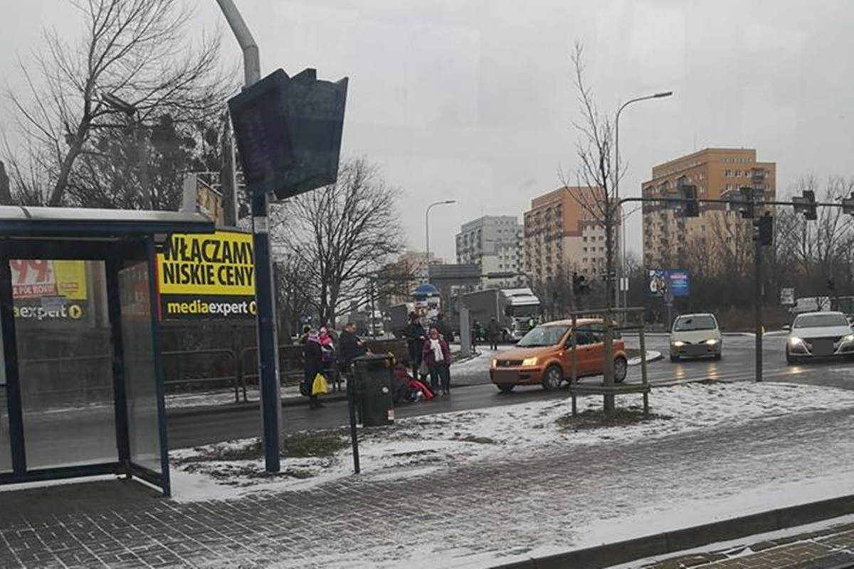 wypadek rondo fordońskie_ potrącenie pieszej - nadesłane