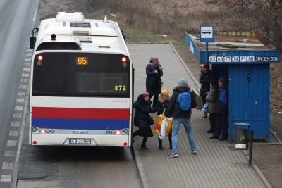Autobus - linia 65, kierunek Dworzec Leśne_ przystanek Fordońska-Wiślana_ JS