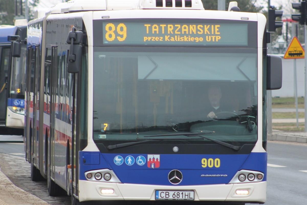 Autobus_ linia 89 - kierunek Tatrzańskie_ JS