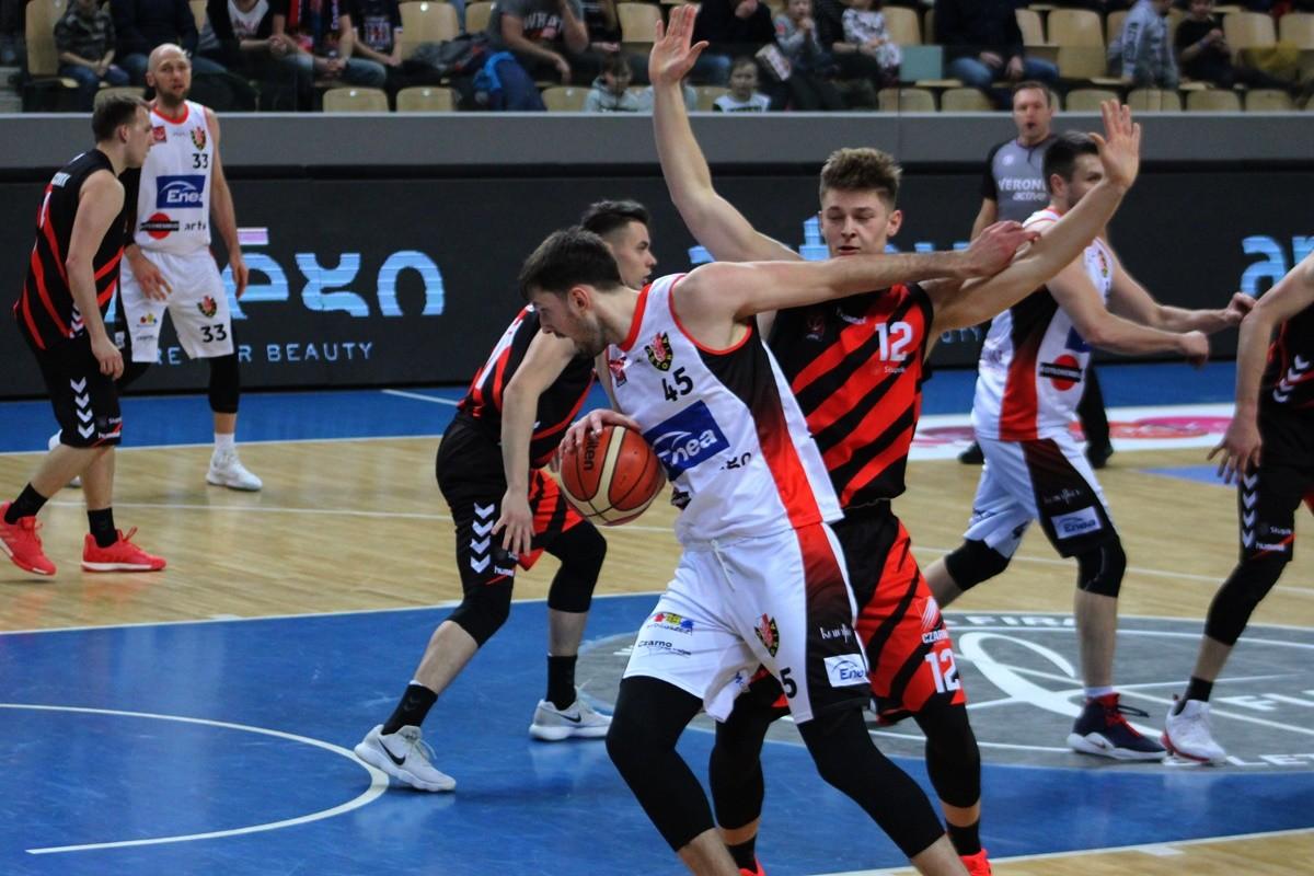 I liga koszykarzy_ Enea Astoria Bydgoszcz - STK Czarni Słupsk_ Łukasz Frąckiewicz - Hubert Wyszkowski_ SF