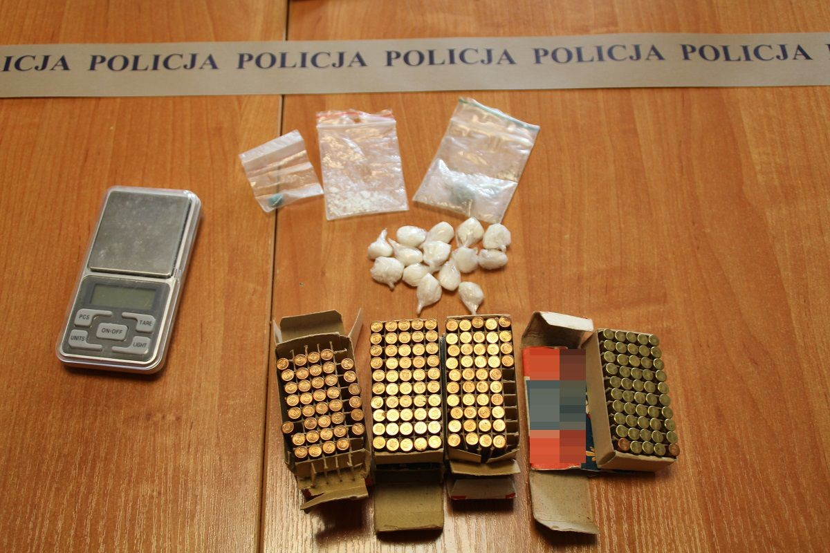 amunicja policja nakło sadki