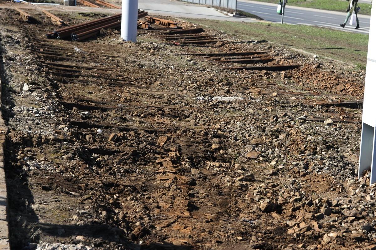 20-03-19 Budowa nowej linii tramwajowej_ prace na rondzie Kujawskim Bydgoszcz - SF (6)