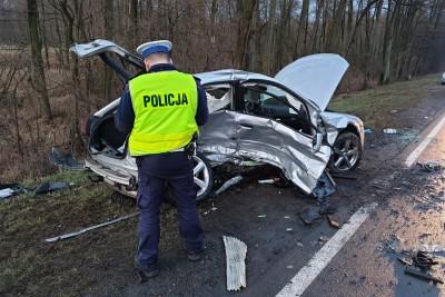 9-03-2019 wypadek DK62 Józefowo_ KMP Włocławek (1)