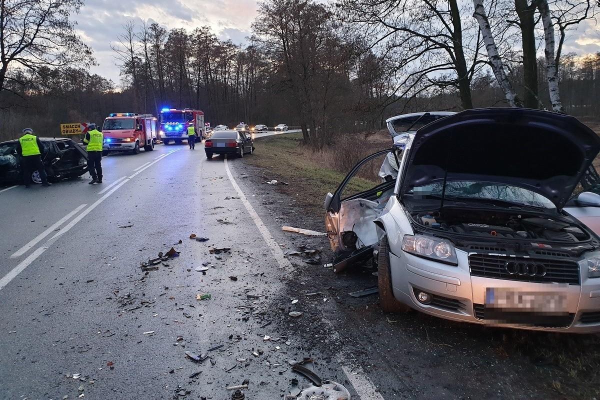 9-03-2019 wypadek DK62 Józefowo_ KMP Włocławek (2)