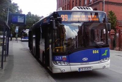 autobus - linia 99_ kierunek Nowa Wieś Wielka - przystanek plac Kościeleckich -Marcin-Bratoszewski