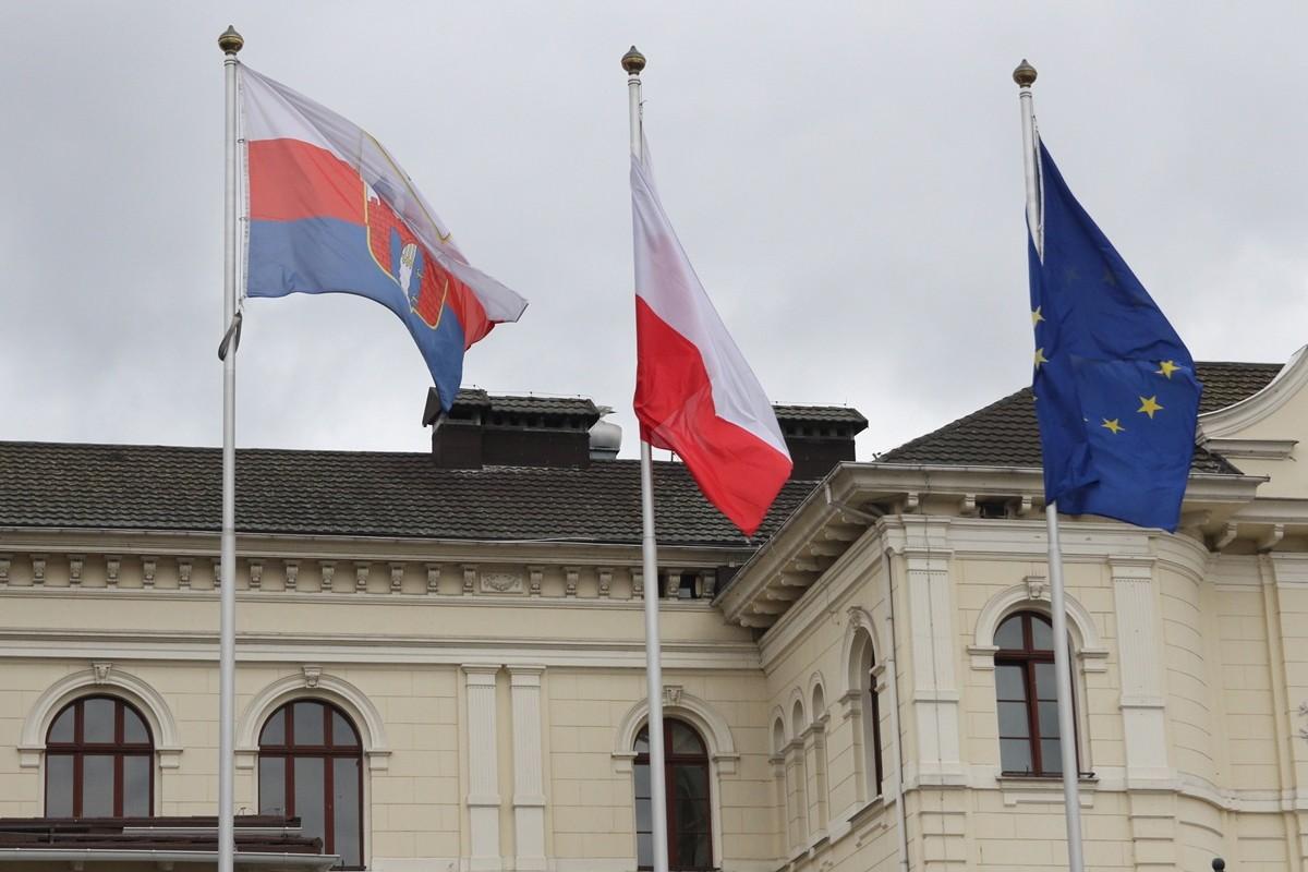 flagi polska bydgoszcz unia europejska BB