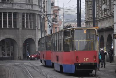 gdańska, tramwaj, linia nr 6 - bb