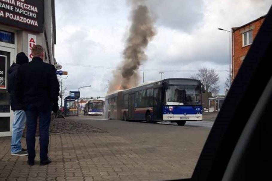 piekna, pożar autobusu - nadesłane 1