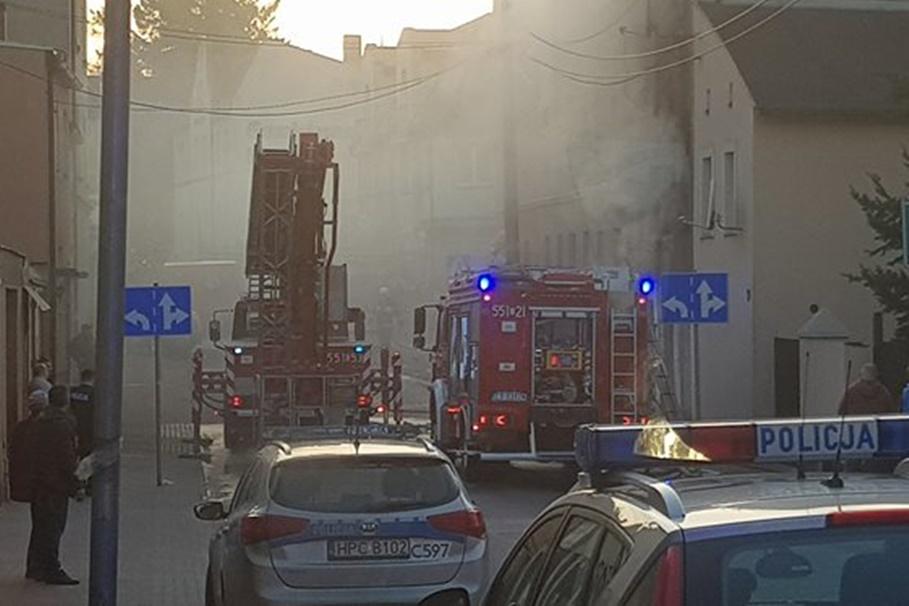 pożar wąbrzeźno - ratownictwo medyczne powiatu golubsko-dobrzyńskiego-1
