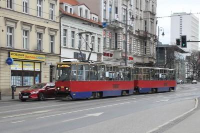 tramwaj konstal linia 8 focha kierunek rycerska BB