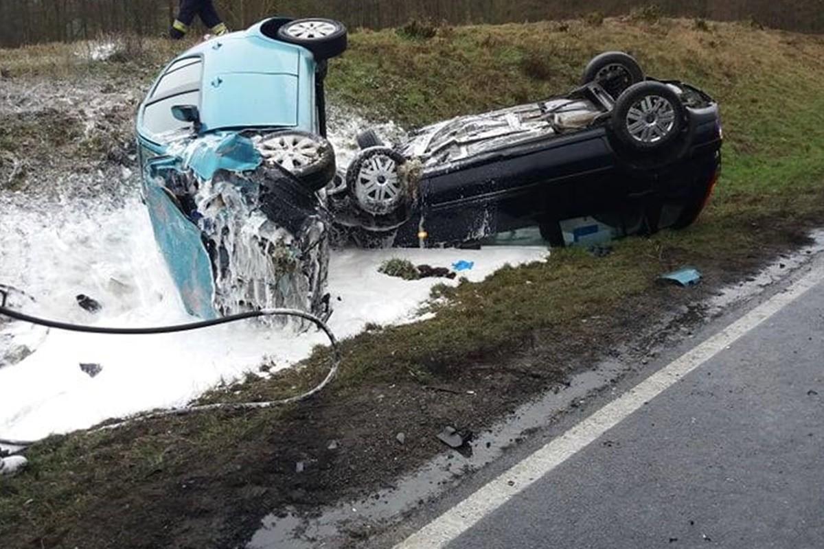 wypadek - DK25 Buszkowo_ pomoc drogowa Koronowo 24h Adamer Adam Łysek-3