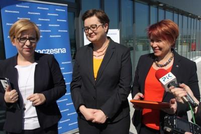 Paulina Hennig-Kloska, Katarzyna Lubnauer, Joanna Czerska-Thomas; konferencja .Nowoczesna - Bydgoszcz - SF