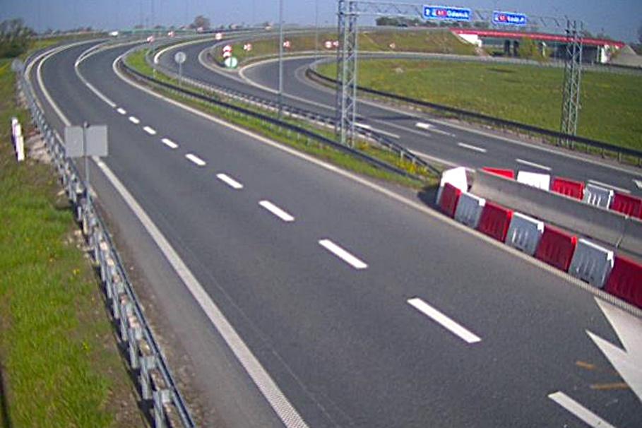 autostrada A1 - węzeł Kowal - kierunek Gdańsk - kam. GDDKiA