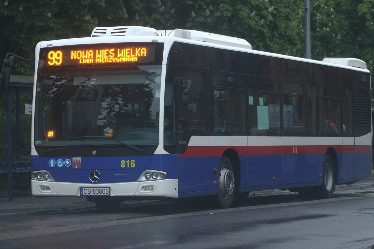 Autobus - linia 99, kierunek Nowa Wieś Wielka - SF
