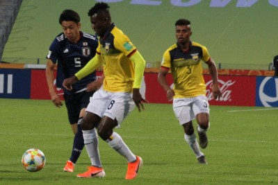 Ekwador - Japonia_ MŚ U-20 Bydgoszcz_ Jose Cifuentes, Diego Palacios - Yukinari Sugawara - SF