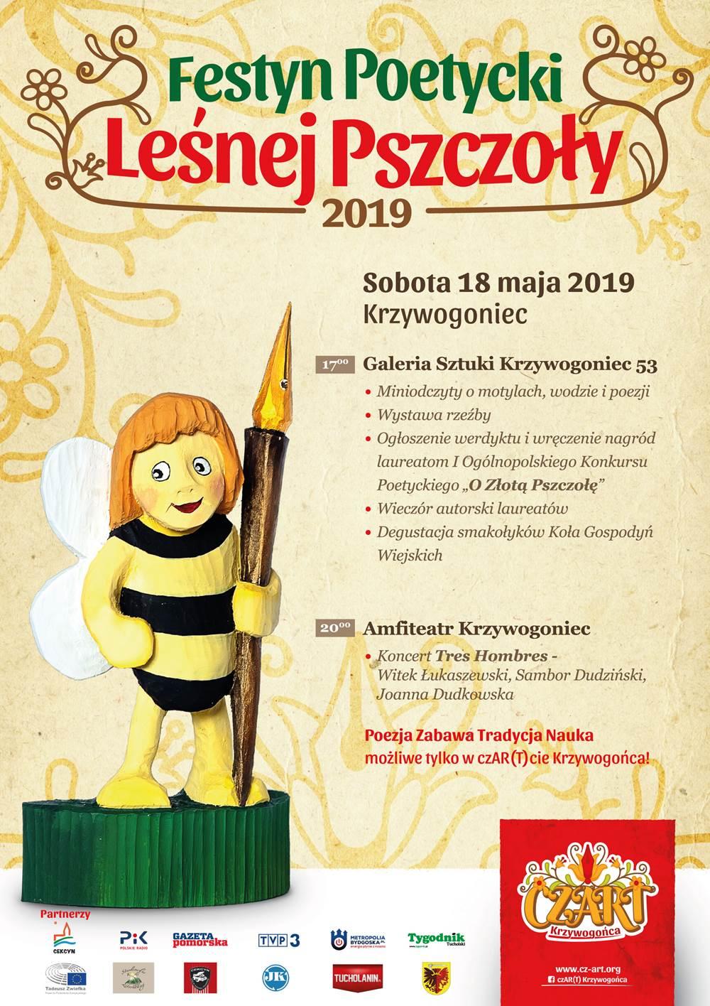 Festyn poetycki Lesnej Pszczoły 18 05 2019 Krzywogoniec Plakat(1)