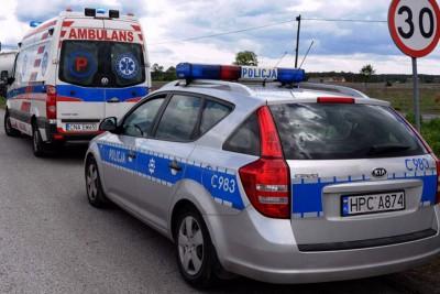 ambulans, policja - na sygnale - MR-1