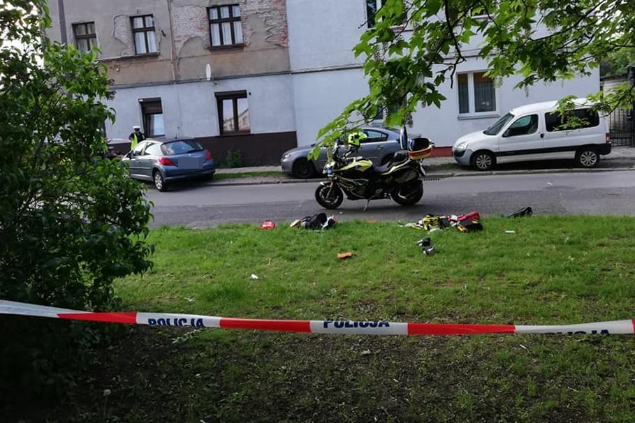 wypadek-potrącenie_ Leszczyńskiego, Szwederowo Bydgoszcz - nadesłane_ Mikołaj Sierszulski-3