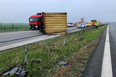 odhaczona naczepa autostrada A1 Lisewo Turzno