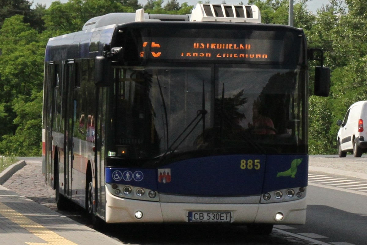 Autobus - linia 75, kierunek Ostromecko - SF