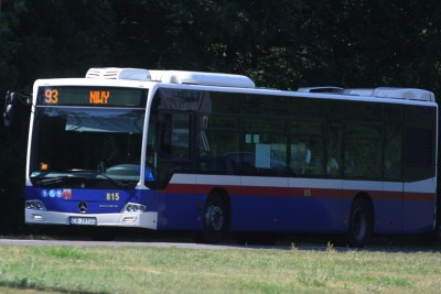 Autobus - linia 93, kierunek Niwy - SF