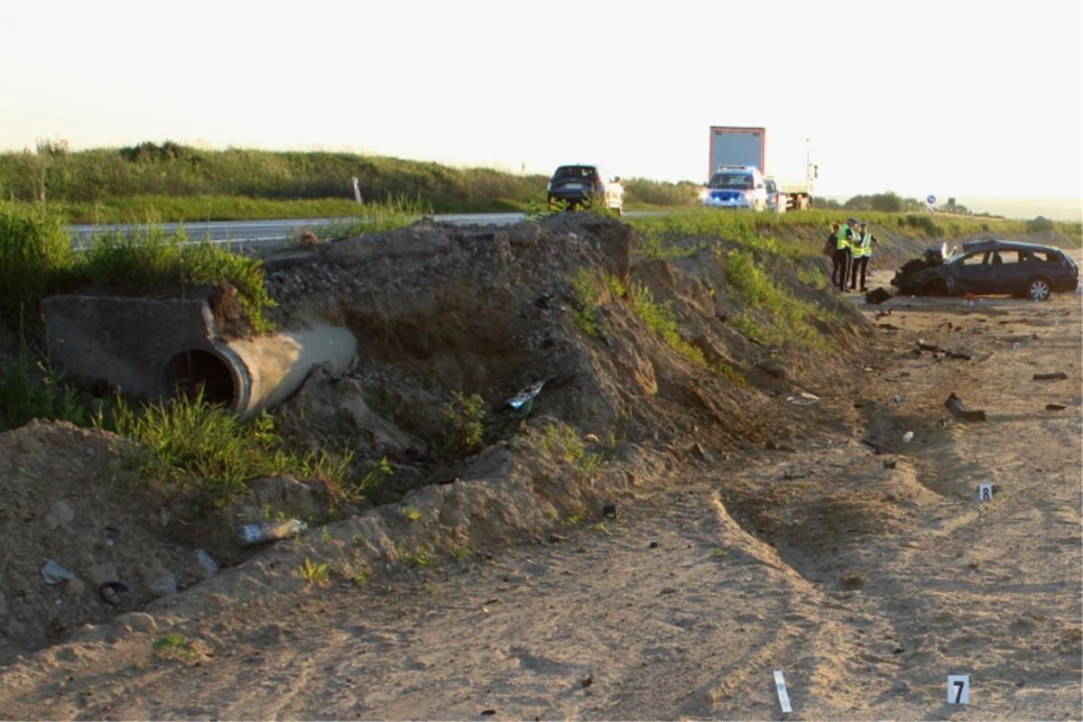 wypadek DK5_ Gruczno - KPP Świecie (2)