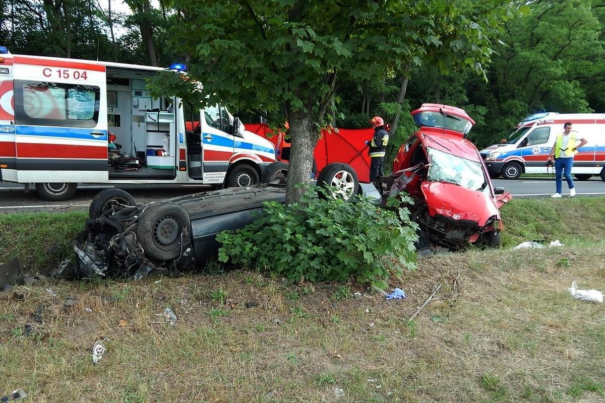 wypadek - DK62 Borucinek_ KPP Radziejów (2)