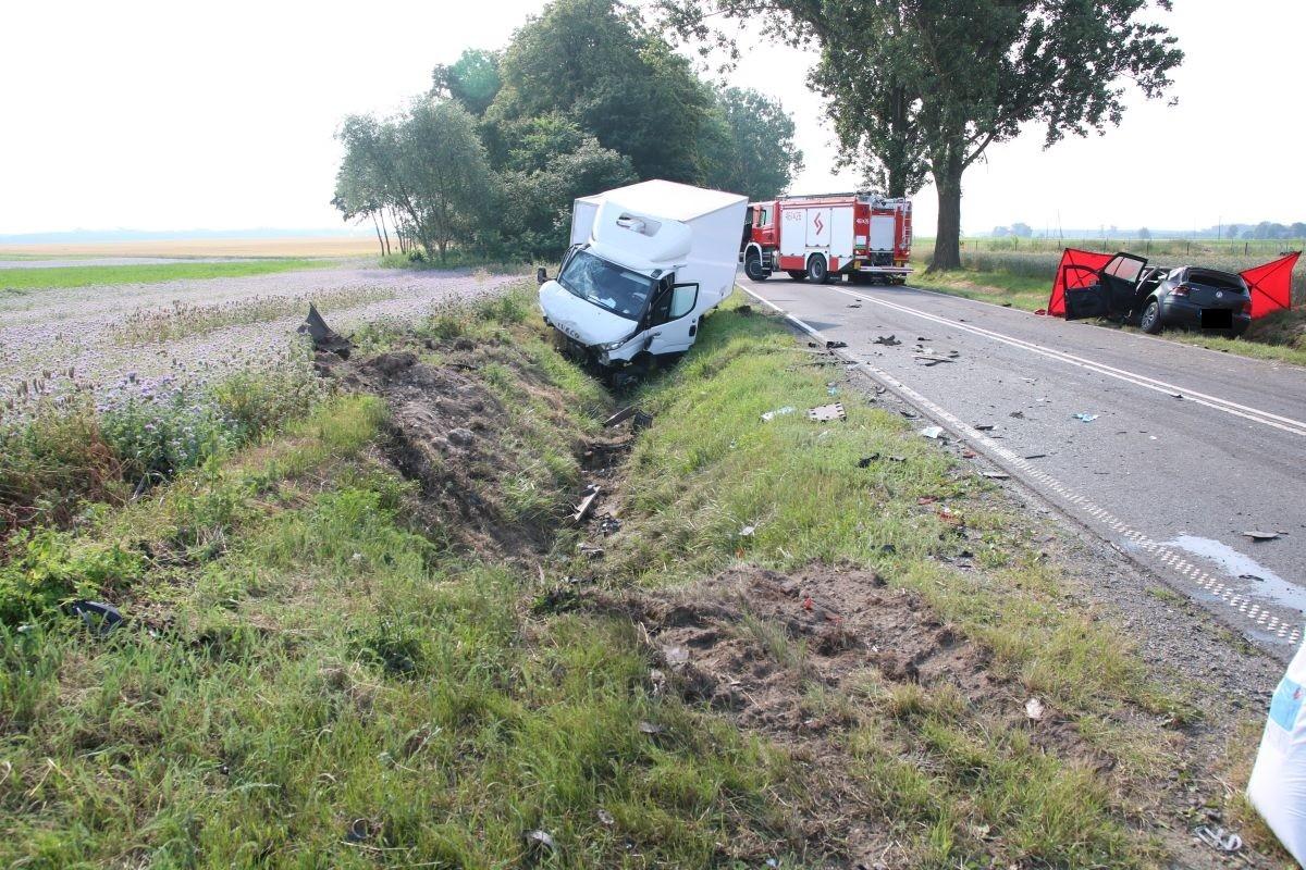 wypadek - DW252 Łąkocin - KPP Inowrocław