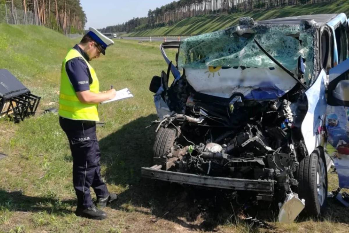 wypadek - autostrada A1, Mniszek - KPP Świecie (1)