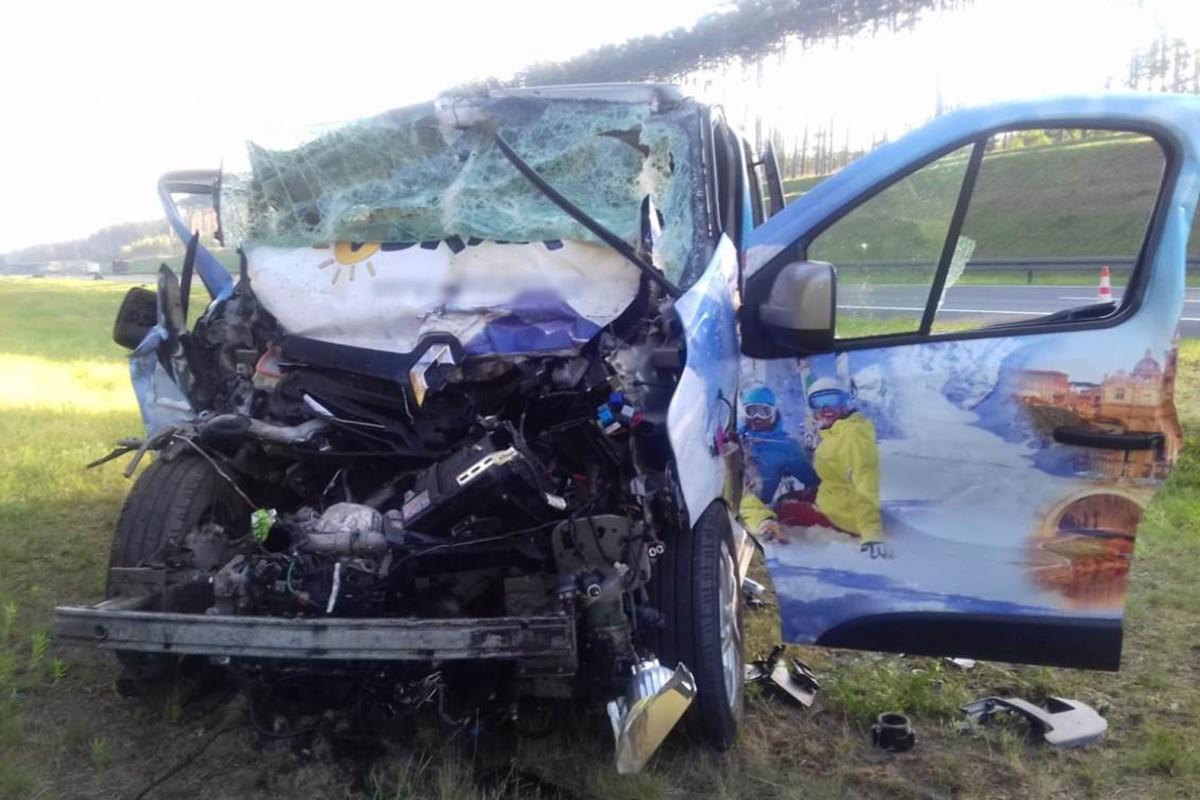 wypadek - autostrada A1, Mniszek - KPP Świecie (2)