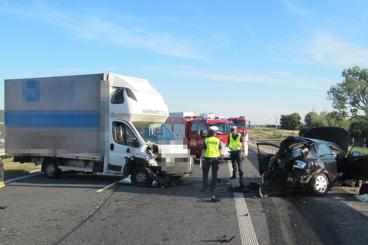 wypadek - autostrada A1 Słone - KMP Włocławek-3