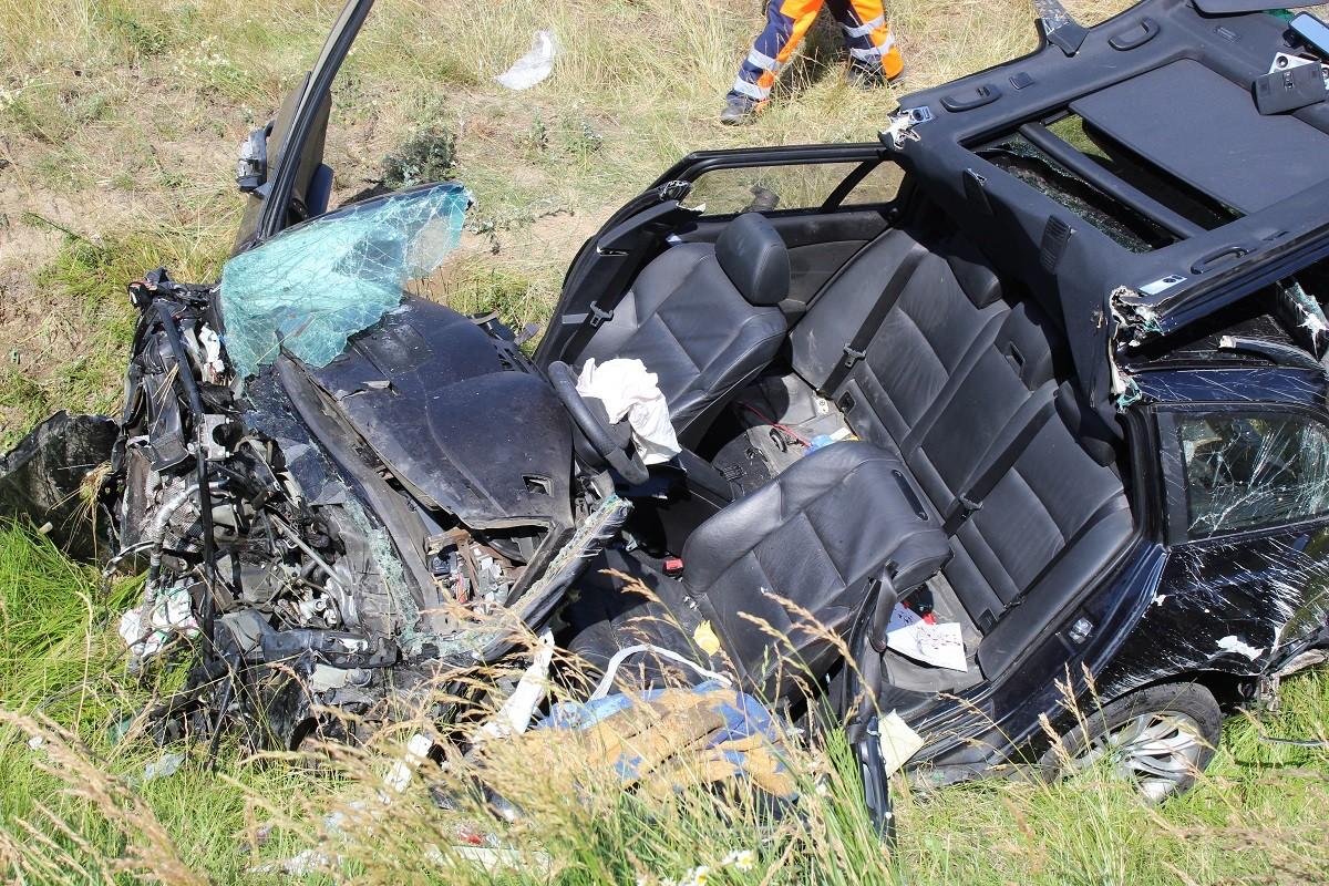 wypadek - autostrada A1 Unisławice - KMP Włocławek