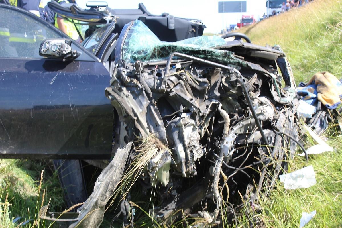 wypadek - autostrada A1 Unisławice - KMP Włocławek-4