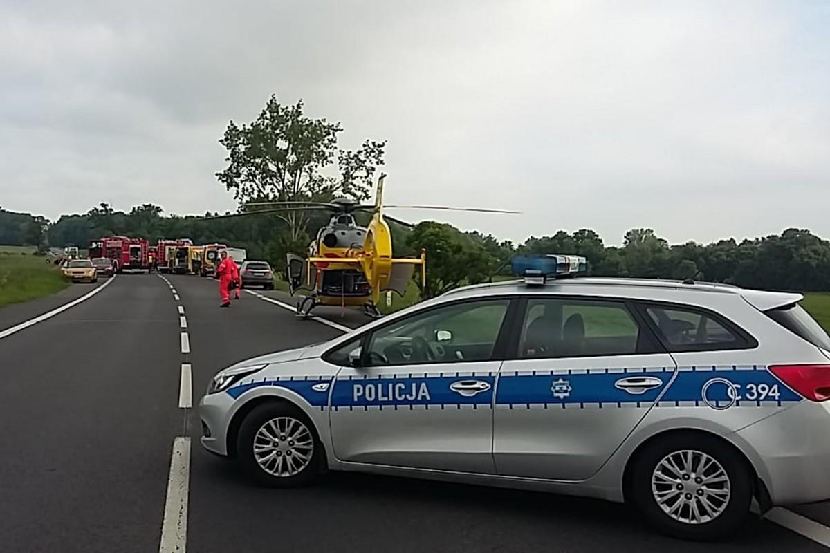 wypadek_ DK91 Głuchowo - KMP Toruń