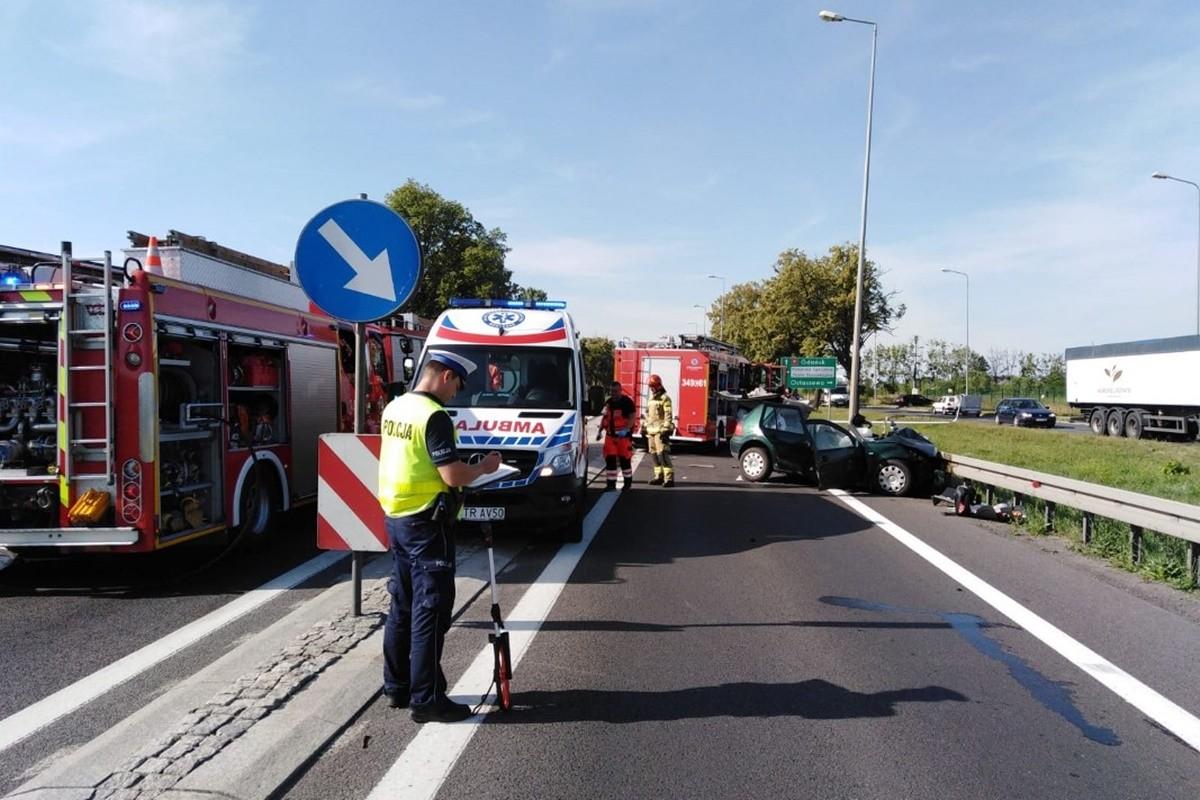 wypadek_ DK91 Ostaszewo - KMP Toruń-1
