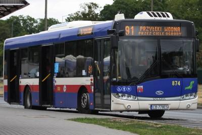 Autobus - linia międzygminna 91, kierunek Przyłęki przez Ciele - pętla Błonie - SF