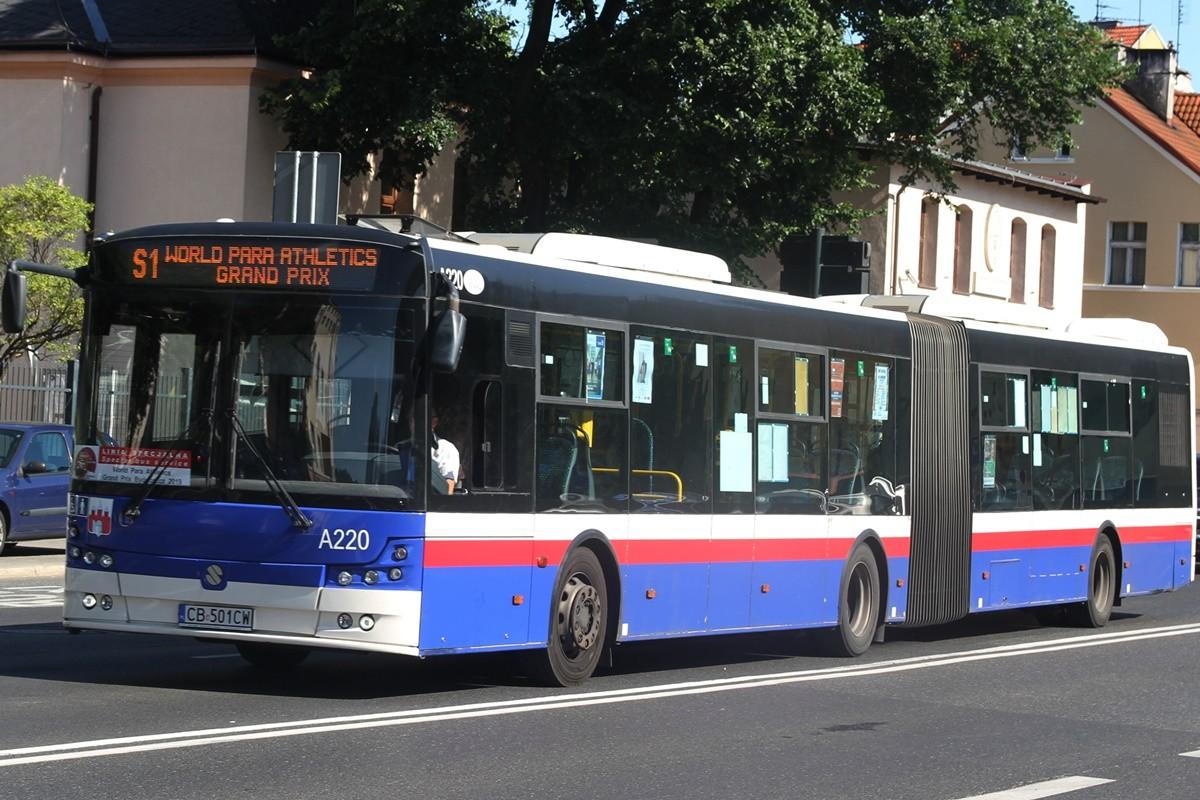 Autobus - linia specjalna S1 - kierunek Stadion Zawisza - SF