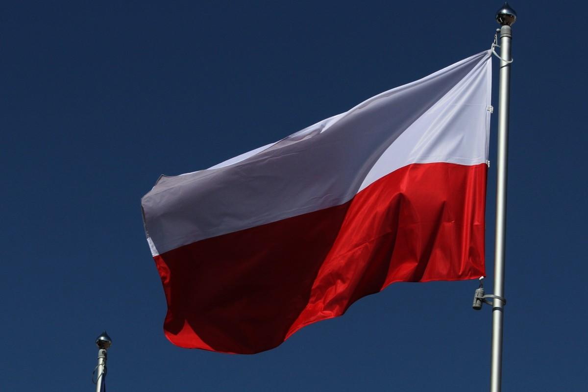 Flaga - Polska, biało-czerwona - SF